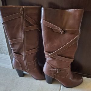 Brown Giselle Strap Boots